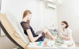 Процедура педикюра при грибке ногтей