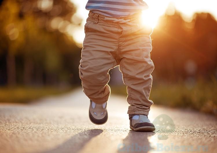 бег ребенка