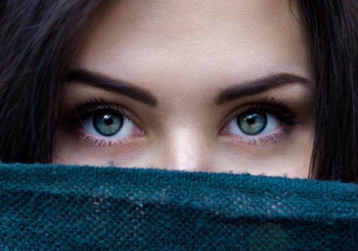 взгляд девушки